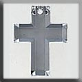12053 - Traditional Cross Crystal (foiled) 17/13mm - 1 per pkg